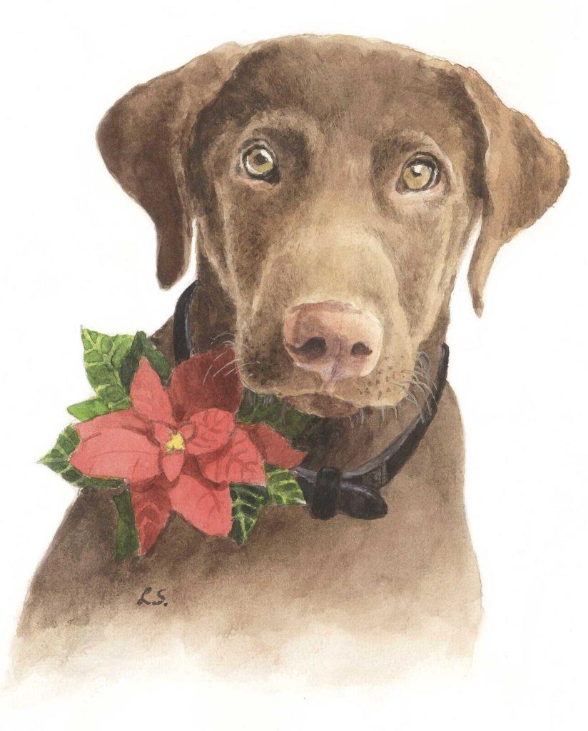 Illustratie Kerstverhalen De kersthulphond