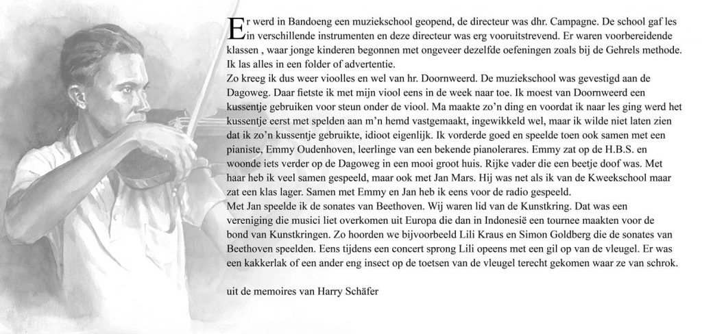 Illustratie Memoires Harry Schäfer vioolles