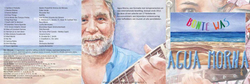 Illustratie cd hoes Agua Morna