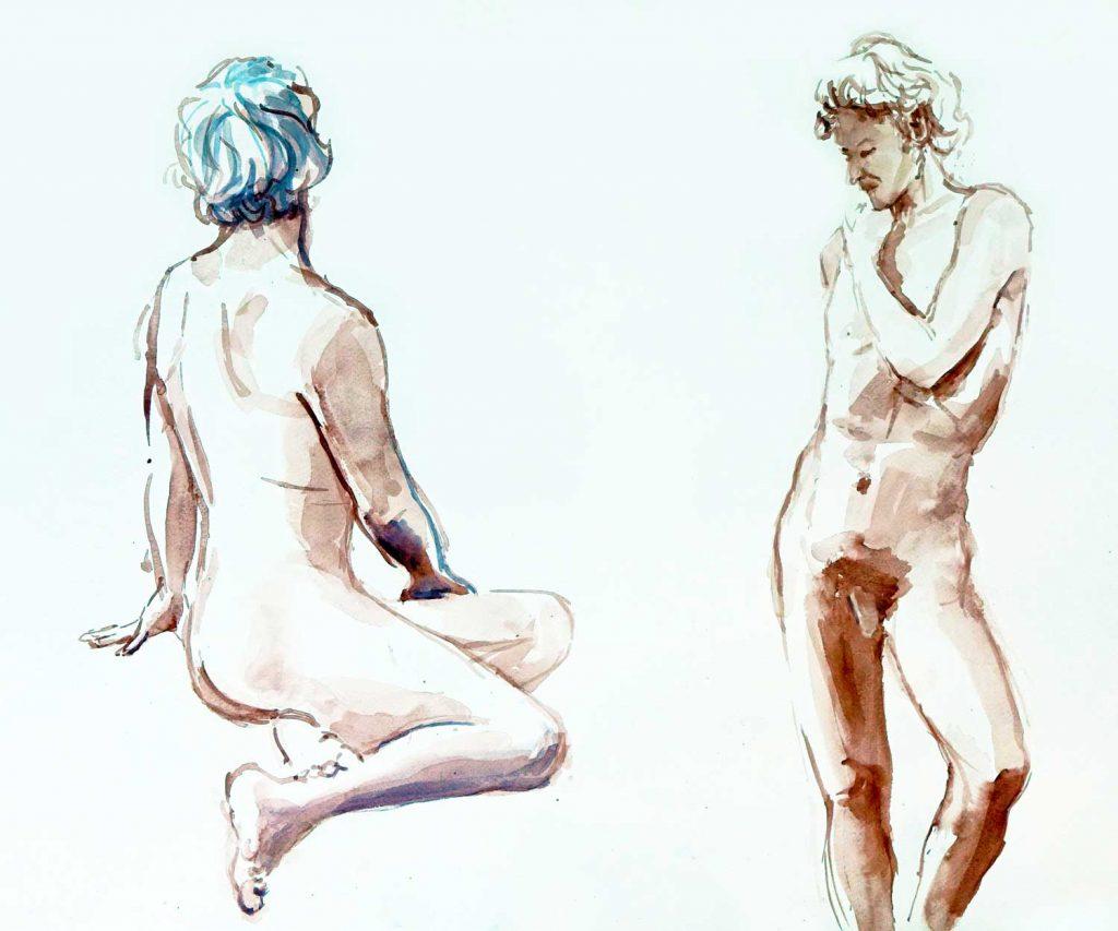Model aquarel 50cm x 65cm