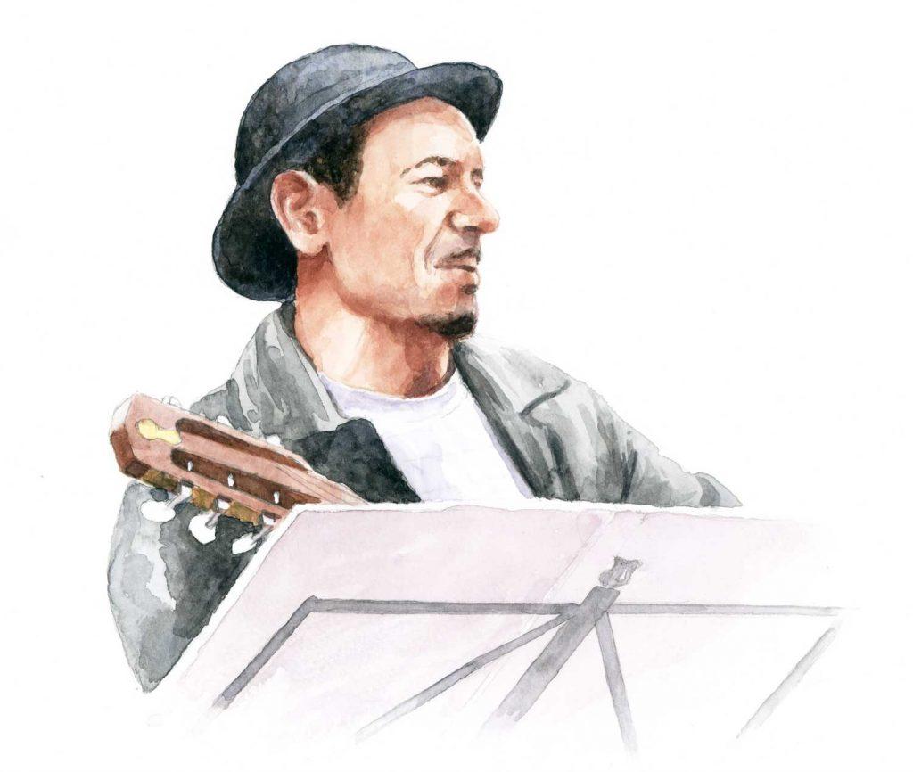 Portret AguaMorna Joao aquarel