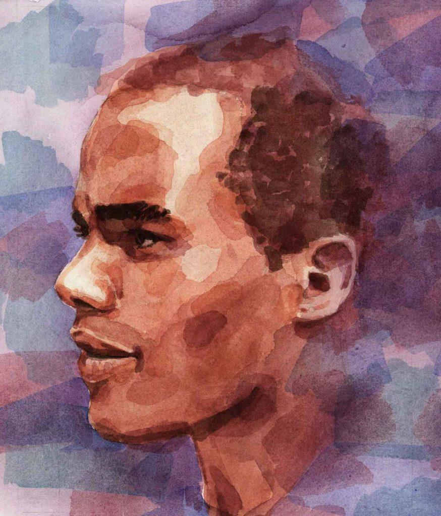 Portret Frank aquarel