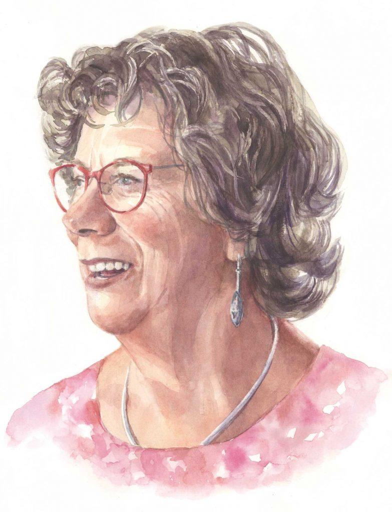 Portret Marga aquarel