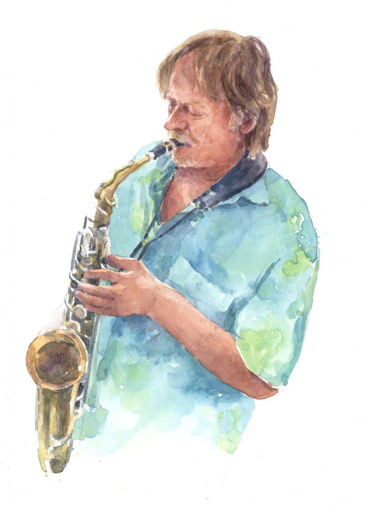 Portret Rob aquarel