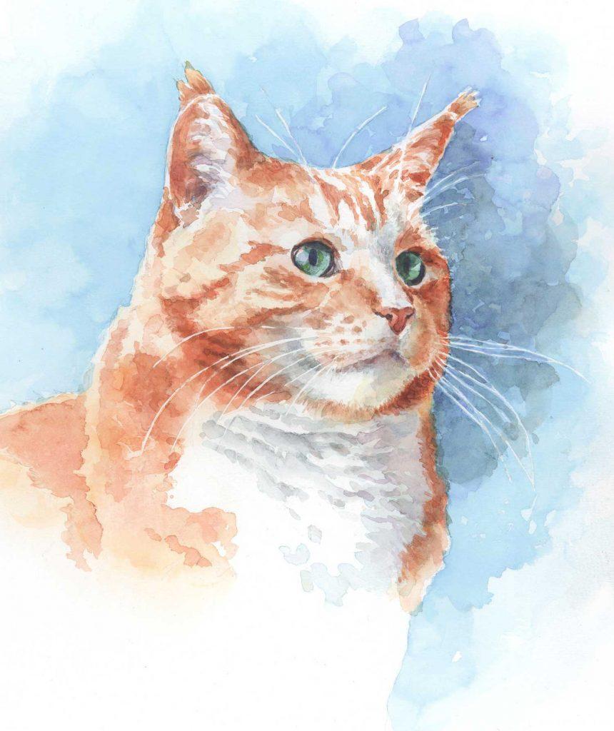 Portret Roosje aquarel