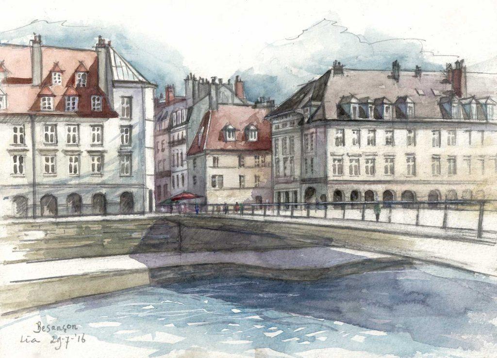 Urbansketch Besançon