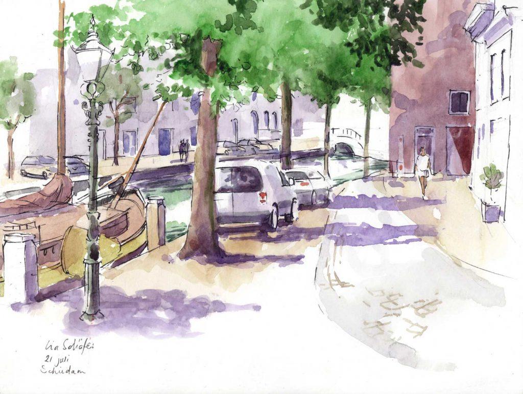 Urbansketch Schiedam 24cm x 32cm
